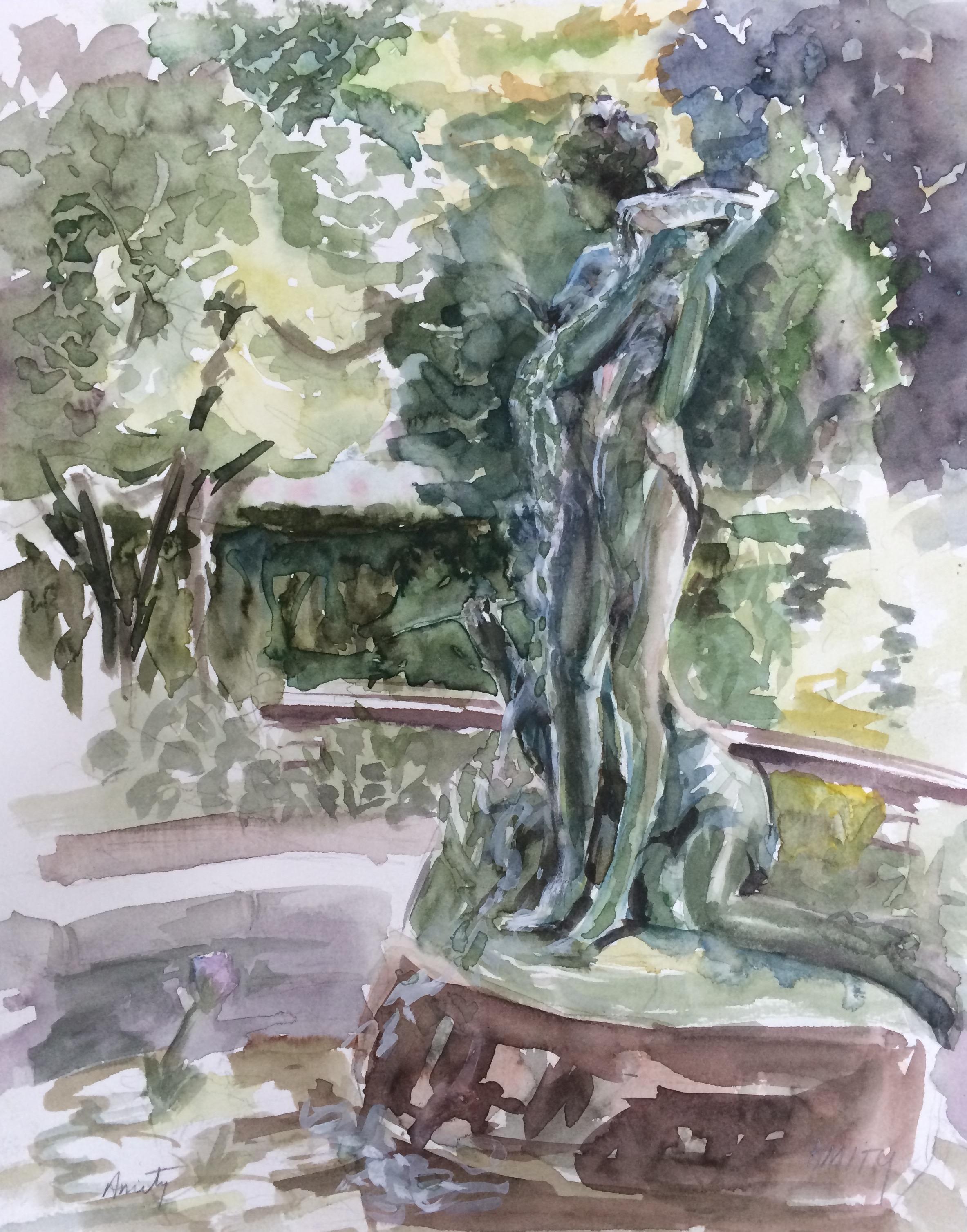 Statue in English Garden