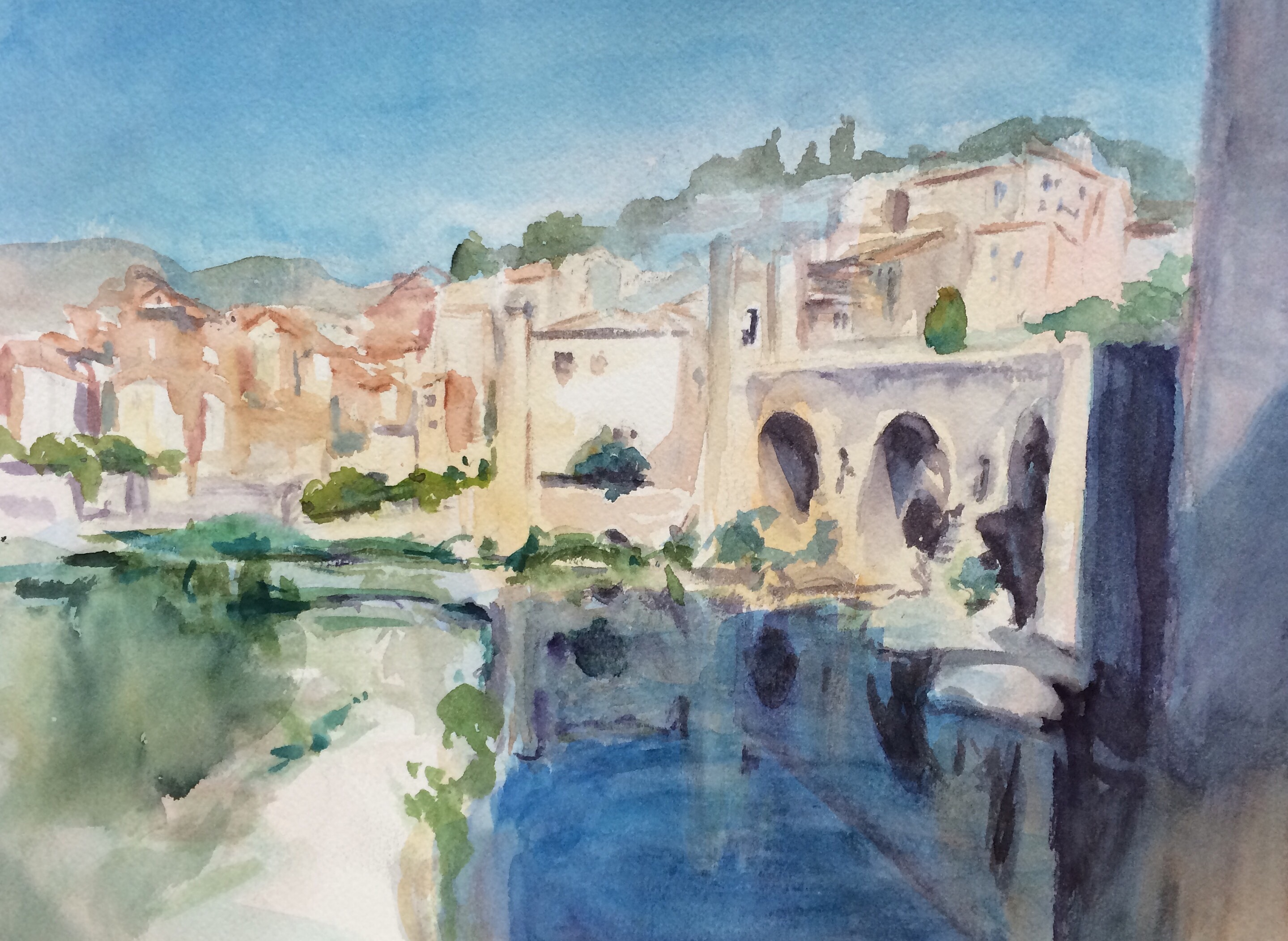 Bridge and Water, Besalu